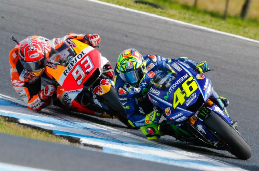 """MotoGP – Marc Márquez: """"Valentino Rossi impressiona pela motivação que tem"""""""