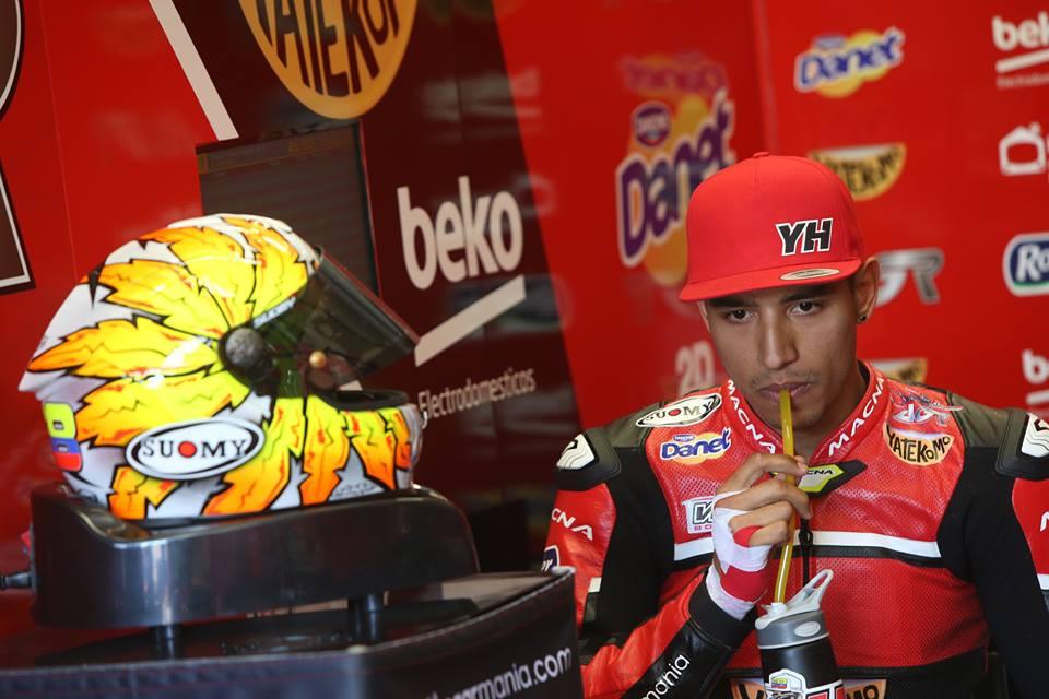 Yonny Hernández em estreia no Mundial de Superbikes