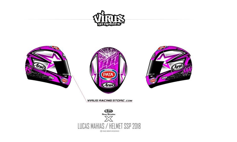 SSP: Lucas Mahias mostra capacete para 2018