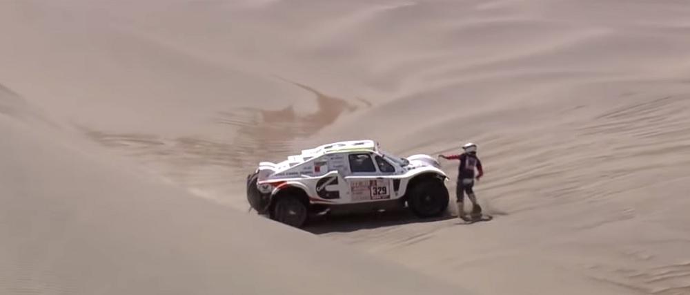 Dakar 2018, Vídeo: Gabriela Novotna evita atropelamento no deserto