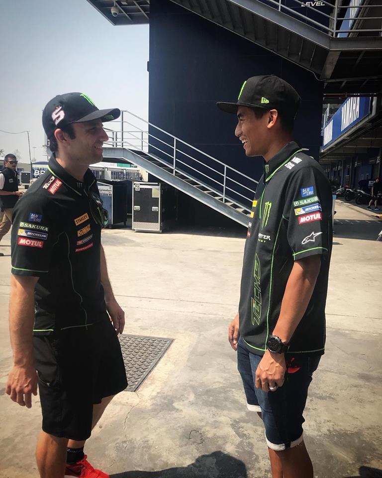 MotoGP: Johann Zarco e Hafizh Syharin juntos