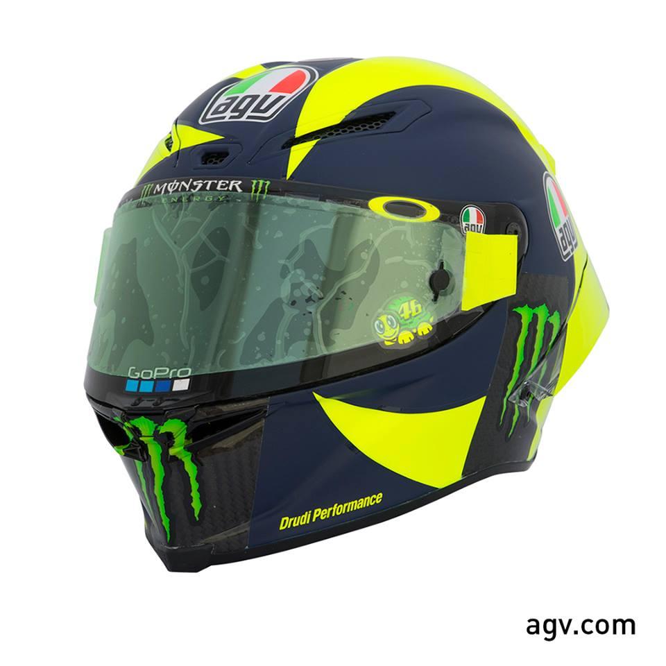 MotoGP: Valentino Rossi com novo capecete