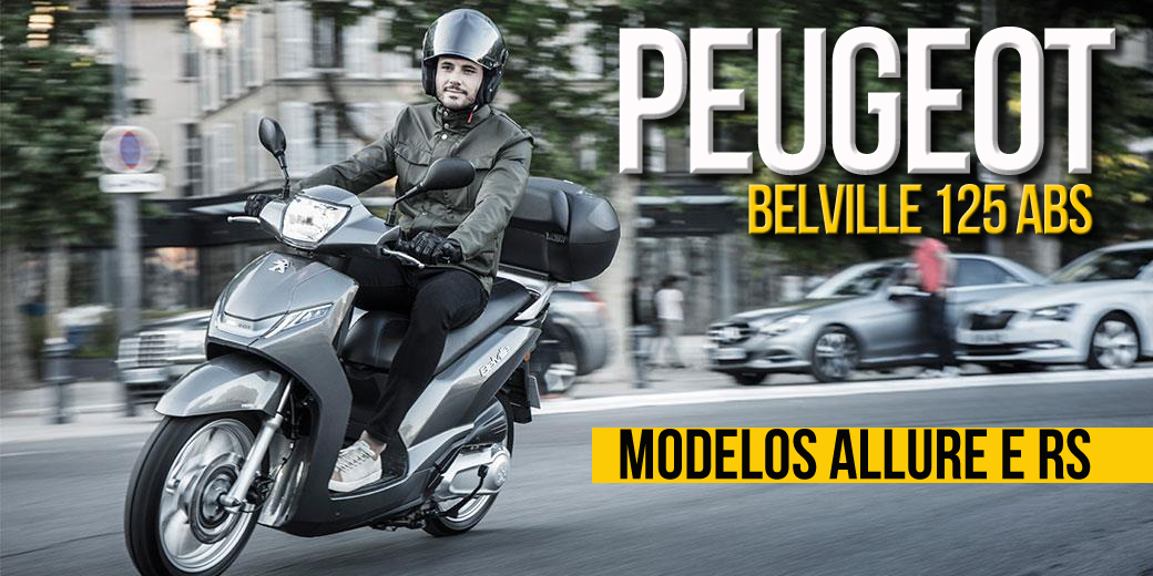 PEUGEOT BELVILLE 125 ABS – Já disponível em duas versões Allure e RS