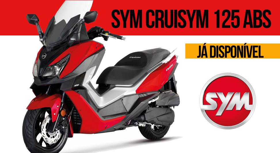 SYM CRUISYM 125 ABS – Desenho Moderno e Agressivo