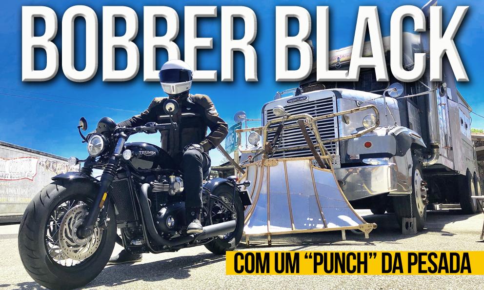 """Ensaio Triumph Bobber Black – Com um """"Punch"""" da Pesada"""