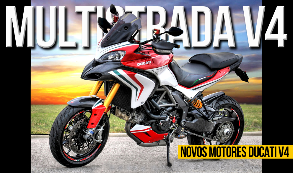 Novas motorizações V4 estão em desenvolvimento na Ducati