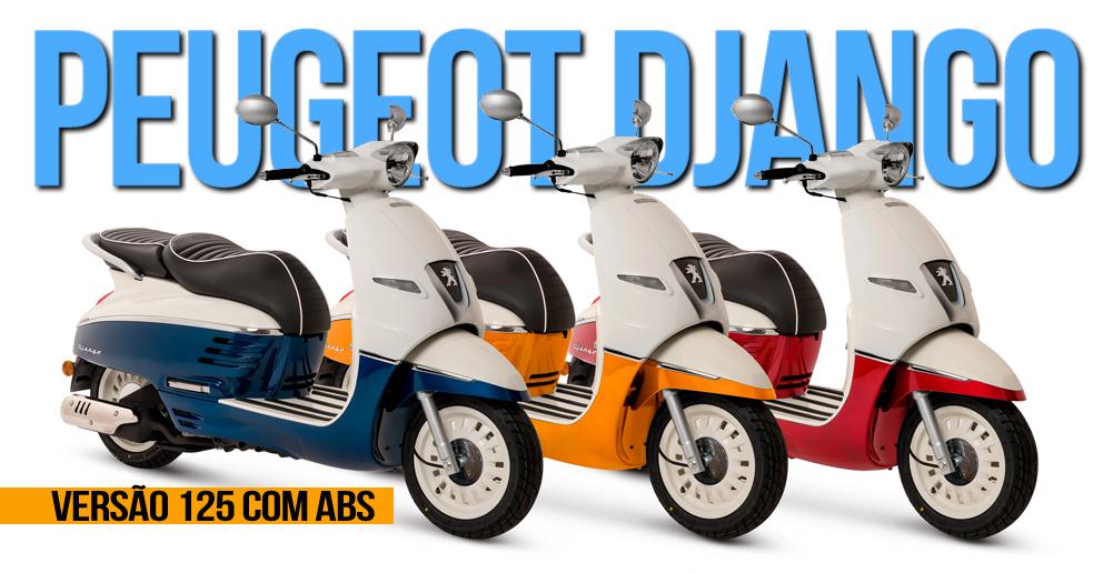 scooter peugeot django 125 com abs segurança e estabilidade
