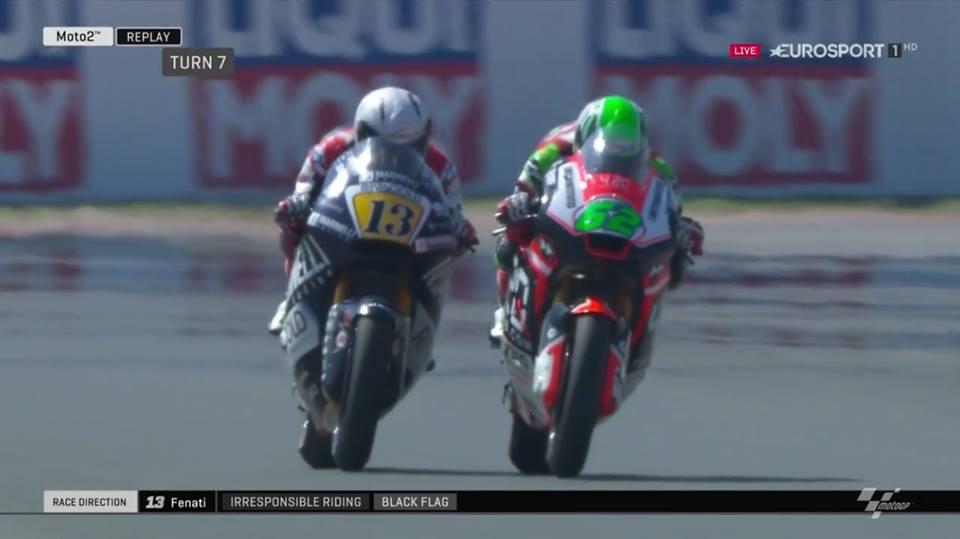 """Moto2: FIM não quer """"crucificar"""" Romano Fenati"""