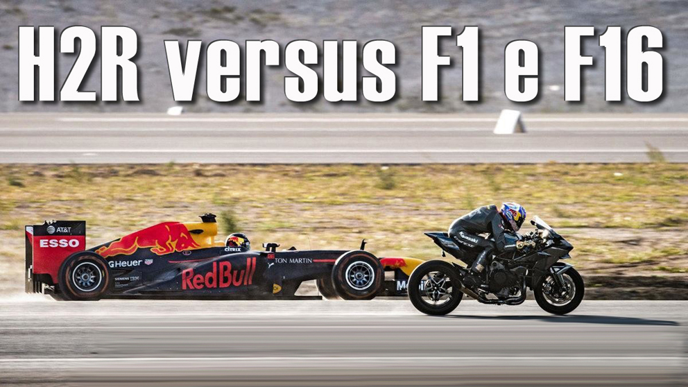 Kenan Sofuoglu numa Kawasaki Ninja H2R bate um F1 e um F16 – Vídeo
