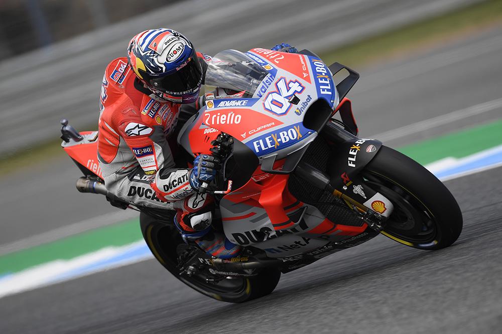 MotoGP: Andrea Dovizioso destacado dos demais