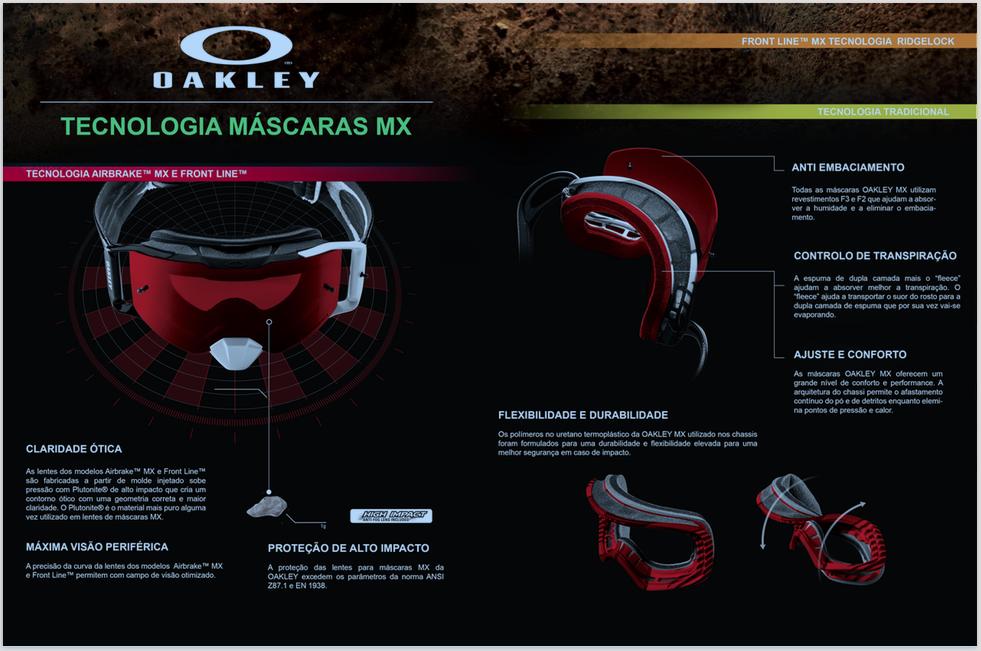 22cc01f6100a8 A Oakley é uma marca com mais de 40 anos de existência que se dedica-se há  mais de três décadas às máscaras de MX. Ao longo dos anos criaram  equipamentos ...