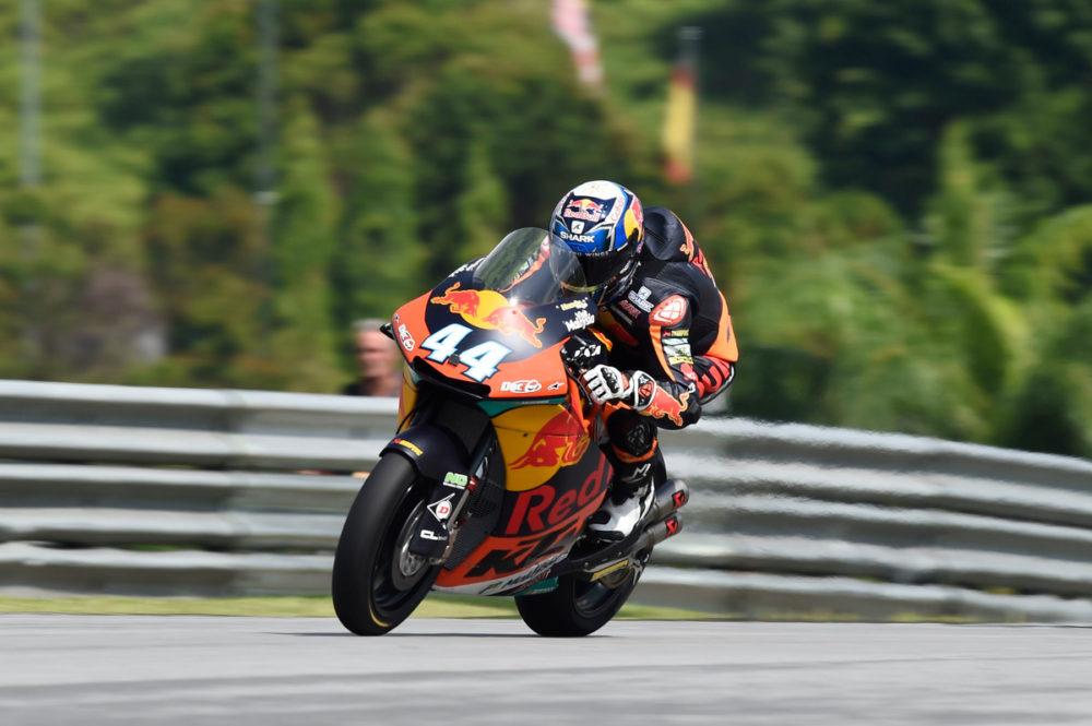 Moto2: Miguel Oliveira no 3º lugar em manhã molhada