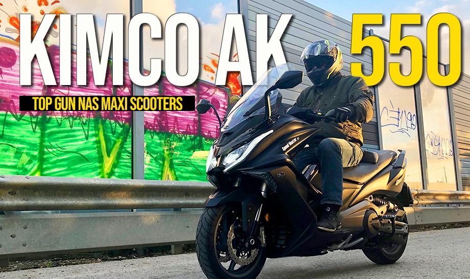 ENSAIO KYMCO AK 550 – Top Gun no segmento Maxi Scooter