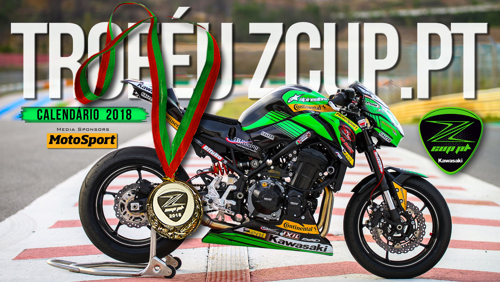 MotoSport homenageado como Media Sponsor do Troféu Kawasaki ZCUP.PT
