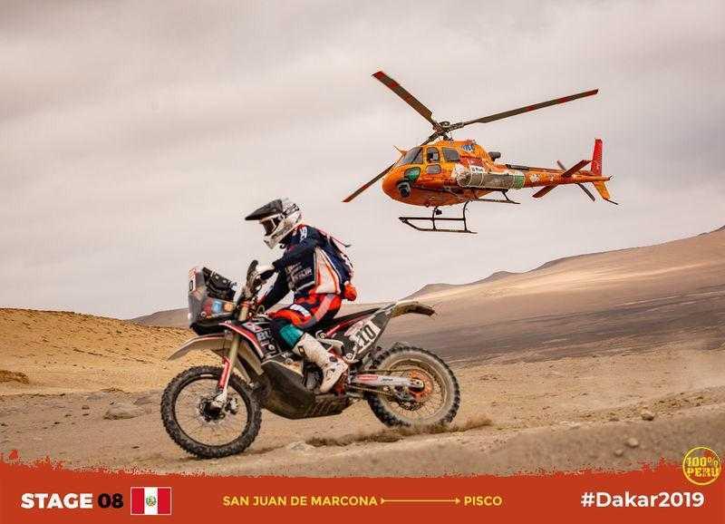 Dakar, Etapa 10: Sebastian Bühler, segundo melhor estreante