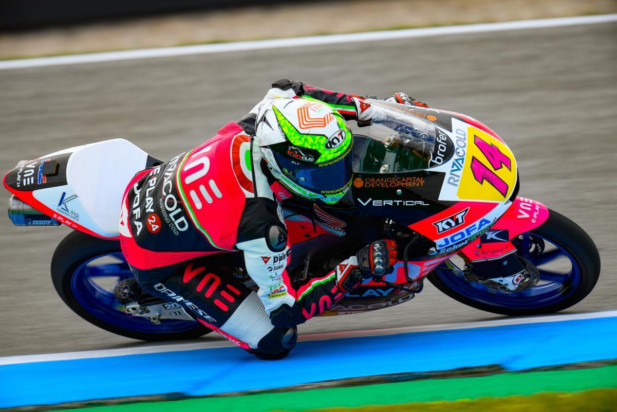 Moto3,FP1: Arbolino lidera com recorde