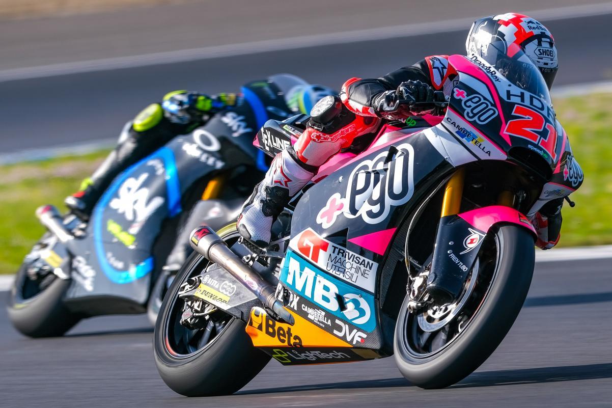 Moto2: DiGiannantonio surpreende ao liderar FP1