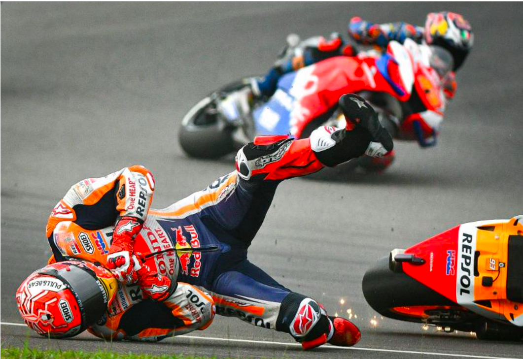 MotoGP: Algumas quedas da época